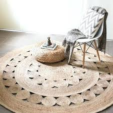 Best Home Minimalist Round Natural Fiber Rug On Jute Pottery Barn From