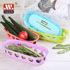Haixing <b>Multifunctional</b> Plastic Heart Shaped Storage <b>Fruit Basket</b>