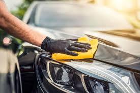polishing a newly painted car