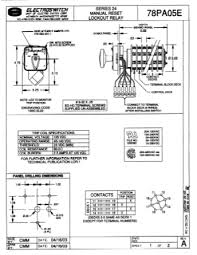 electroswitch electroswitch 125vdc lock out relay series 24 drawing