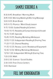 Classroom Routine Chart Fitting It All In How To Schedule A Literacy Block For