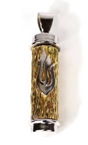 handcrafted 14k gold mezuzah pendant