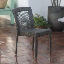 Cliff All Weather Wicker Dining Chairs Set of 2
