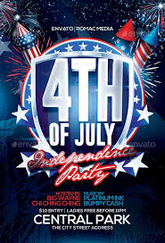Fourth Of July Flyer Template Free Efex Us