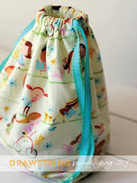 diy drawstring snack bag