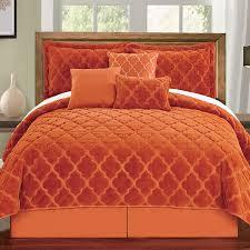 bedspreads king size lightweight bright orange