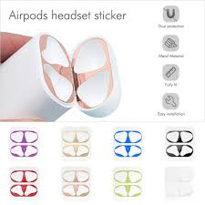 Miếng dán kim loại siêu mỏng bảo vệ cho hộp sạc tai nghe Apple Airpods 1/2 tốt  giá rẻ