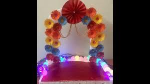 ganapati makhar at home ganesh pooja decoration ganpati makhar decoration
