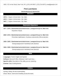 13 Lovely Simple Resume Format For Freshers Images