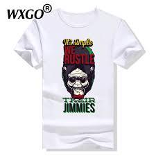 It's <b>Simple We Rustle</b> Their Jimmies Chimpanzee Print Cool T shirt ...