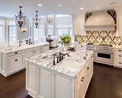 ... Granite On Whi Photo Gallery For Website White Kitchen Cabinets With  Granite ...