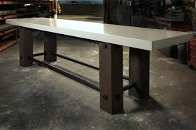 concrete table top how to make a white stone masonry for tops decorations round diy concrete table