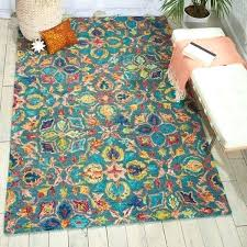 teal contemporary area rug rugs target