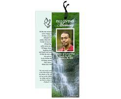 Free Memorial Bookmark Templates