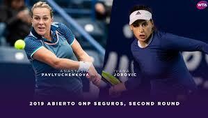 2019 monterrey highlights pavlyuchenkova blasts past jorovic