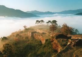 竹田城から眺めた景色