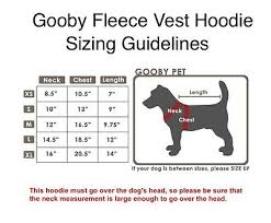 Gooby Size Chart Gooby Fleece Vest Hoody Harness All Colors Sizes Easy Soft