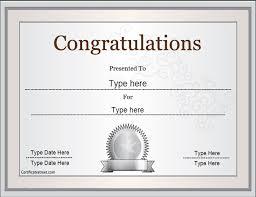 congratulations certificate templates special certificates congratulations certificate celebrations