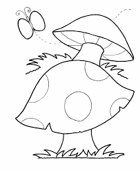 Small Picture Learning Years Mushroom Coloring Page Simple Shape