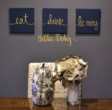 furniture ideas navy wall art fresh eat drink be merry navy gold 3 piece wall on food and drink wall art with furniture ideas navy wall art fresh eat drink be merry navy gold 3