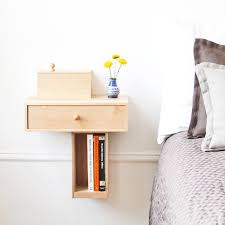 Very Small DIY Custom Modern Floating Bedside Nightstand Table With  Bookshelf And Drawer Ideas