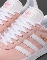 adidas shoes pink and white. adidas gazelle trainers light pink/white shoes pink and white