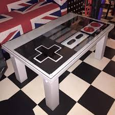 decor of gaming coffee table with gaming coffee table