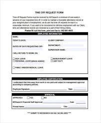 Days Off Request Form Template Request Form Template