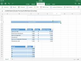 Excel Grade Calculator Template Excel For Ipad Helps Students Stay On Top Of Their Gpa Microsoft
