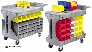 small akro mils procart plastic utility carts box or flat top akro bins patible 30930