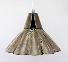 bell mercury glass pendant light tapered mercury glass pendant light