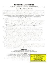 Example of targeted resume