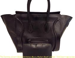 the factory direct céline imitation micro wallet black leather tote best replica handbags 2018