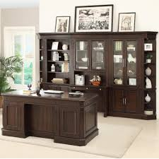Parker House Stanford Wall Unit with Executive Desk and Built in