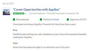 appstar financial reviews on glassdoor