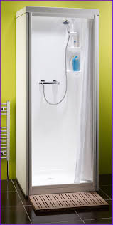 one piece shower stalls with glass doors