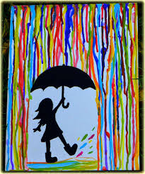 this is an easy acrylic painting for beginners the is a step by step tutorial on how to make this colorful rainbow rain painting