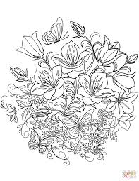 Floral Coloring Pages Spring Flowers Page Free Printable 11591500