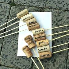 garden label ideas make plant labels with corks and bamboo skewers fun idea for my too garden label