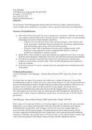 Objectives For Marketing Resume Sample Retail Manager Career Sales ...