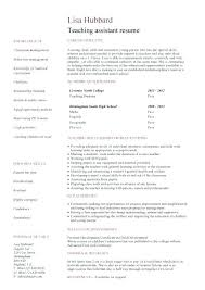 Covering Letter For Teaching Assistant Resume For Teacher Assistant