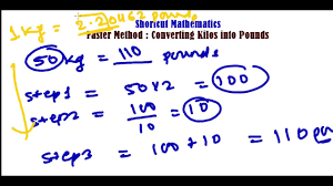 Fast Method To Convert Kg To Pounds Lbs Unit Conversation Trick Fast Math Calculation