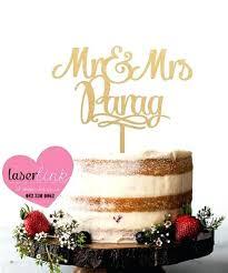 Gold Wedding Cake Toppers Uk Laser Cut Dreamalive