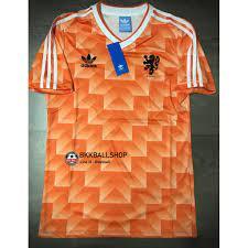 Retro] - เสื้อฟุตบอล ย้อนยุค Netherland Holland Home ฮอลแลนด์ เหย้า ชุดแชมป์ บอล ยูโร ปี 1988