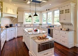 granite kitchen countertops with white cabinets. Polar Cream Granite Countertops Kitchen With White Cabinets W