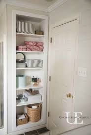 built in bathroom wall storage. DIY Built-in Shelving For Storage Tutorial- Build In Between Wall Studs- Would Have To A Door On It Though. Built Bathroom Pinterest