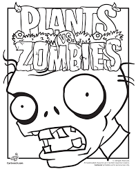 Plants Vs Zombies Coloring Pages Woo Jr Kids Activities Page