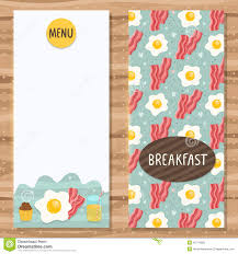 breakfast menu template brochure template for breakfast menu stock vector illustration of