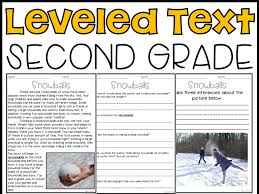 Leveled Text 2nd Grade