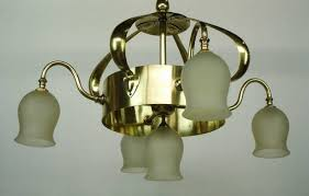 arts and crafts chandelier. Arts And Crafts Chandelier Elegant Brass Attributed To Jesson S